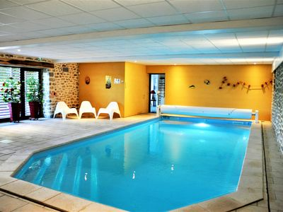 Photo for Large gite with indoor pool all year round, ideal for families and friends