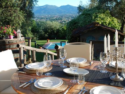 Photo for Casa Collina Verde, Highly rated villa near Lucca with private pool & garden.