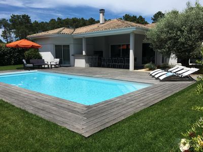 Photo for Architect house near Bordeaux 200m2 with secure heated pool