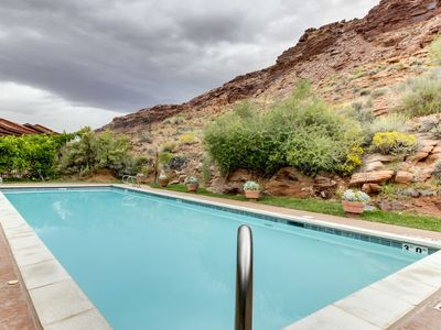 Photo for Contemporary condo w/shared pool, hot tub, near parks & downtown Moab!
