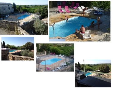 Photo for Renovated stone mas 4 APARTMENTS private pool