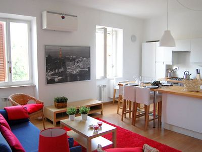 Photo for Rome Apartment, Sleeps 6 with Air Con and Free WiFi