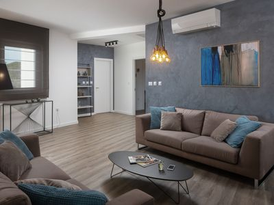 Photo for Luxury penthouse design (115 m2) near the sea and town center