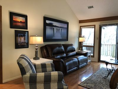 Comfy new easy chair and area rug April 2018
