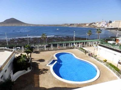 Photo for 2 bedroom apartment with pool and sea views in El Medano