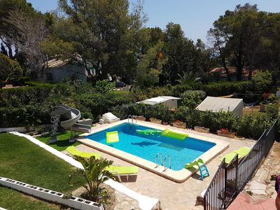 Photo for Modern Luxury Private Villa, Private Pool with Pro 6ft water slide, Sea Views -