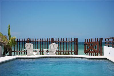 Beach Front Villa with Pool & Wi-Fi - Telchac Puerto
