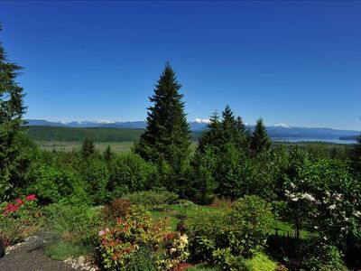 View of Hood Canal, The Olympic Mountains, and The Skokomish Valley