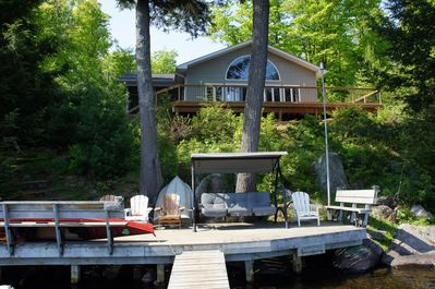 Front of cottage.  New deck 2015.