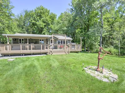 Photo for Pocono Lake Home w/AC, BBQ, Large Deck & Fire Pit!