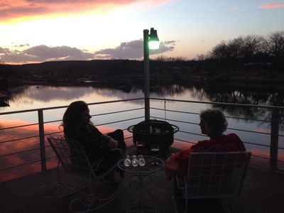 Multi level deck, great for enjoying Texas Hill Country sunsets.