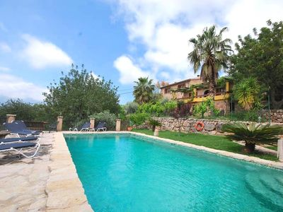 Photo for Amazing villa with pool, stunning views, A/C ,WIFI, garden with BBQ in Fornalutx