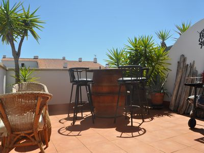 Photo for Nice T3 with large terrace and parking, village center
