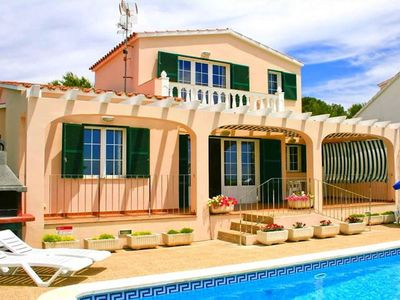 Photo for Pleasant menorcan style villa, is situated in Torre Soli Nou zone. With three bedrooms, private pool