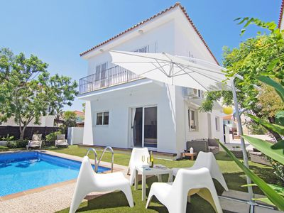 Photo for Apolline Villa - Brand New Beautifully Furnished Villa with Private Pool, A/C and situated only 700 meters  from Kalamies Beach ! - Free WiFi