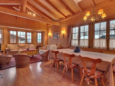 """Photo for Nice 4 piece apartment on the 1st floor of the chalet, near """"Les Moulins"""".  Composition :  • Liv"""