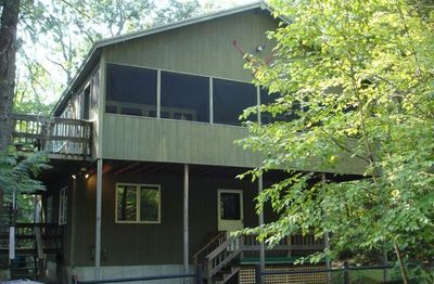 Spaceous  3000 sq ft  , 150 ft from private sandy beach, 1 mile to Shawnee Peak