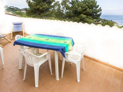 Photo for Apartment with terrace overlooking the sea in Marciana