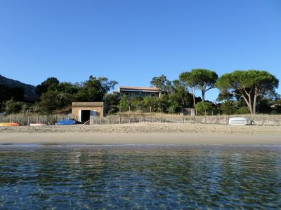 Photo for Villa on the seafront and beach in Corsica Campomoro