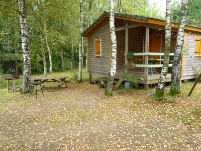 Photo for Chalets in the nature with fishing pond