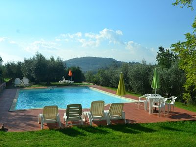 Photo for cozy country-style apartment in Chianti, with pool and barbecue!