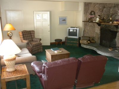 Photo for Spacious Suite Accommodates 6 with stone fireplace and lovely yard for Family