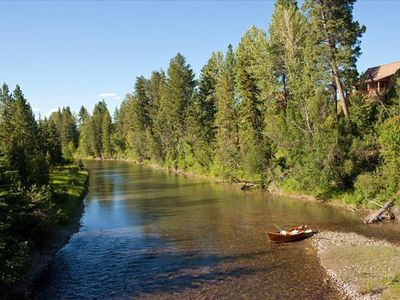 Photo for AMAZING Cabin on River JUST REDUCED! 20 min from GNP
