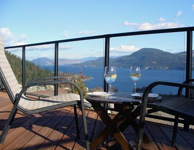 Spectacular views of the lake from front deck.