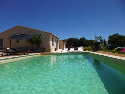 Photo for Castillon du Gard, superb. villa for 8 people with swimming pool