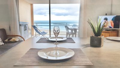 Photo for Apartment T3 (6 persons) on the beach, res. ALIZEA BEACH