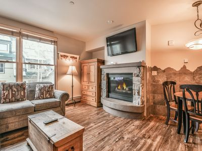 Photo for In the heart of the Village with Hot tub, Fitness  Room and Firepit!
