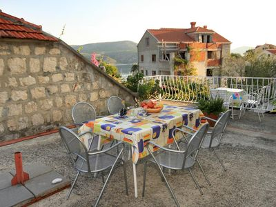 Photo for Two bedroom apartment with terrace and sea view Slano, Dubrovnik (A-2682-a)