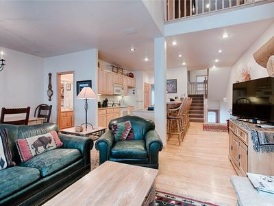 Photo for Ski-in/ski-out, Beautiful town-home, heated garage parking, fully stocked kitchen!