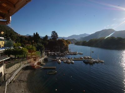 Photo for FAMILY HAVEN WHAT A VIEW! charming lakefront suite in Sala Comacina-Lake Como