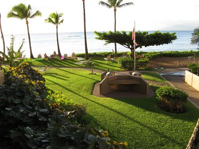 Photo for Fully-furnished condo unit on the beach, Maui, 7 days, June 30-July 7, 2019
