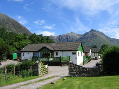 Holly Tree Cottage. Exclusive location on the banks of the river Coe.