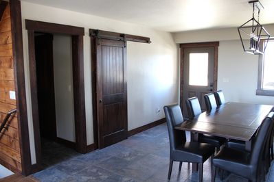 Main entry, pantry, hall to main bedroom and powder room