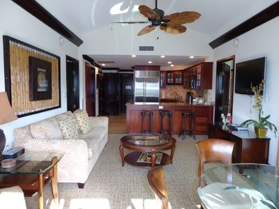 """HIGH Vaulted ceiling in Living Room giving a sense of EXTRA """"Airiness and Room"""""""
