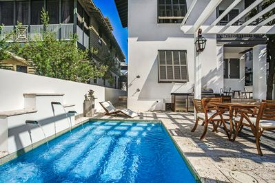 Enjoy the privacy of this private gated courtyard pool,  outdoor