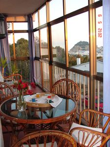 Photo for Tossa De Mar, House with sea, town and mountain views in tranquil area