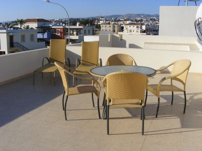 The roof terrace ( this is a private sun trap)