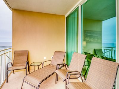 Photo for Newly-updated, beachfront condo w/ a shared pool, hot tub, & gym