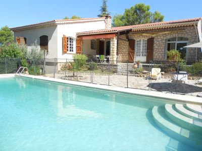 Photo for Provencal villa for 6 people, swimming pool, fireplace, fenced garden of 4000m²