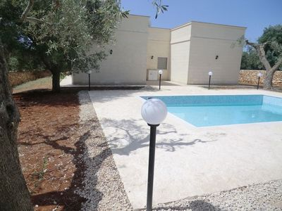 Photo for Villa with private pool and sea views in the olive grove