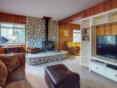 Photo for Cabin in the pines with plenty of deck space, backyard, and mountain views