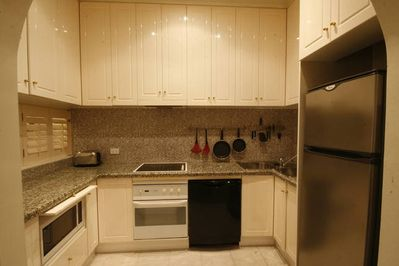 Fully equipped kitchen for self catering