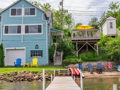 Photo for Fully Renovated Family Friendly Beach Entry Lakefront Cottage
