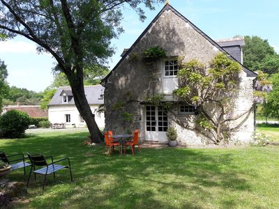 Photo for Charming cottage 4 / 5p. Swimming pool - Villandry