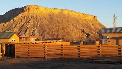 The book cliffs are such a beautiful site as the sun rises over the park.