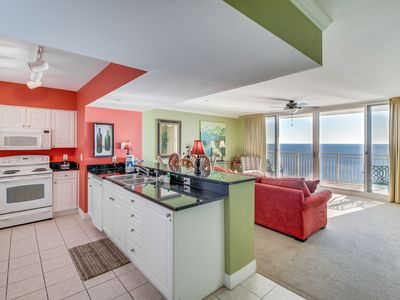 Photo for Oceanfront condo w/ shared pool, hot tub, easy beach access, & nearby sights!